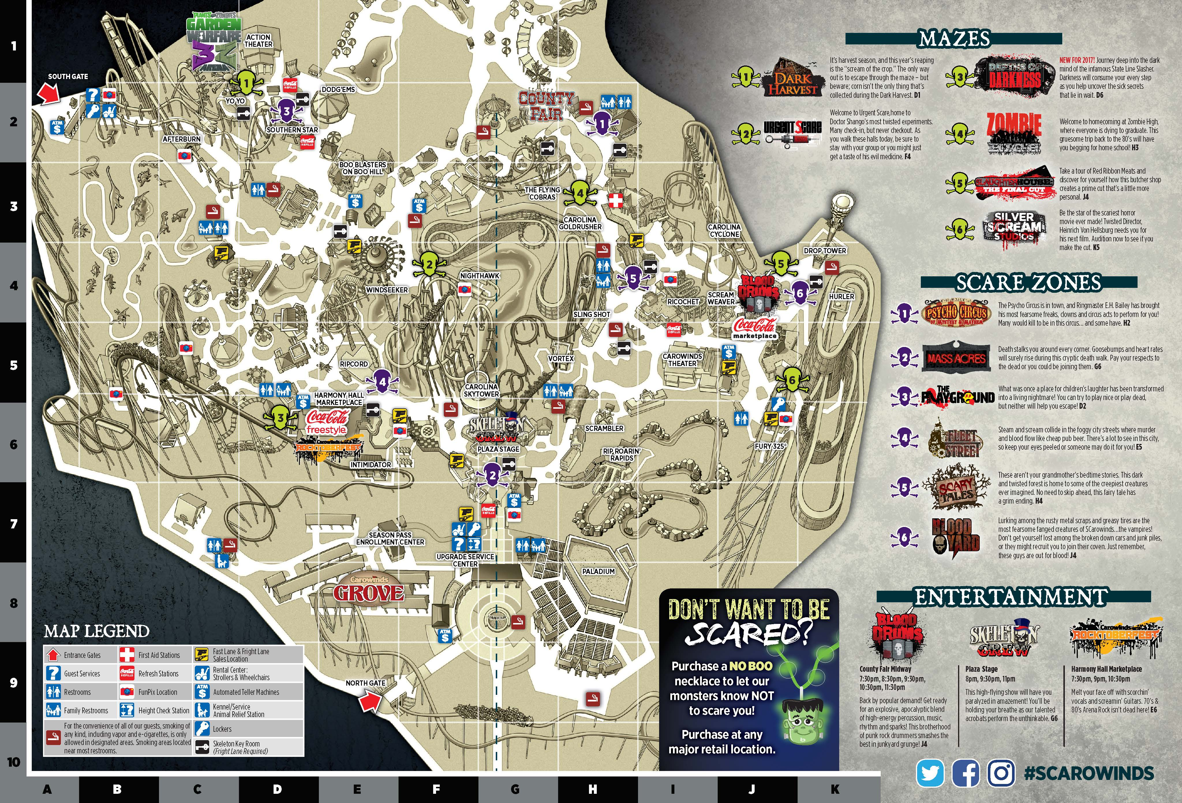 Top Five Things You Need to Know for SCarowinds - Carowinds Carowinds Map on