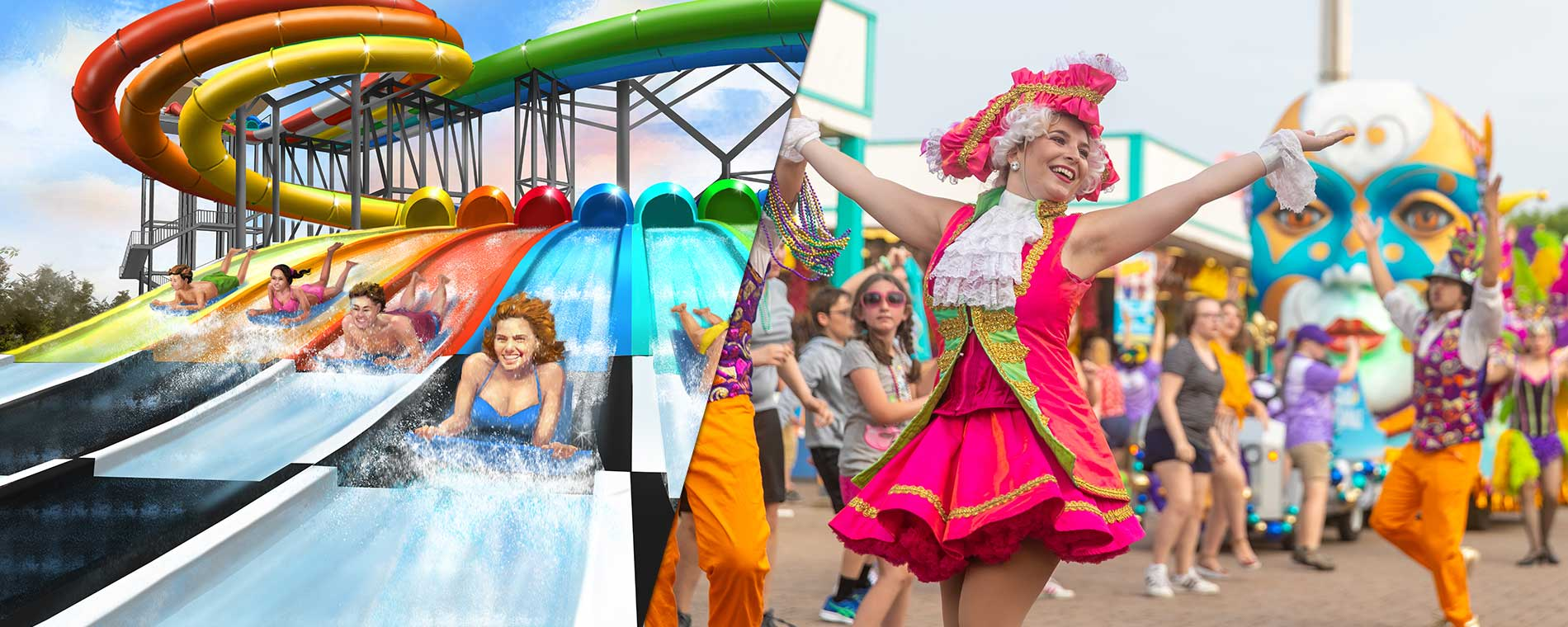Boogie Board Racer and Grand Carnivale at Carowinds