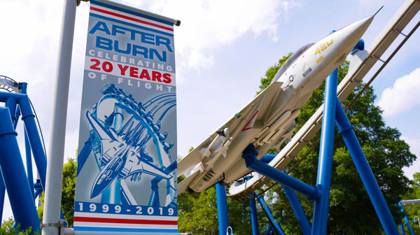 Afterburn roller coaster at Carowinds Theme Park in Charlotte, NC