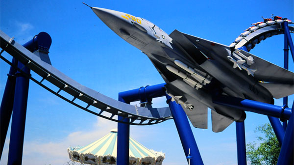 Fighter Jet Prop on the Afterburn at Carowinds Amusement Park