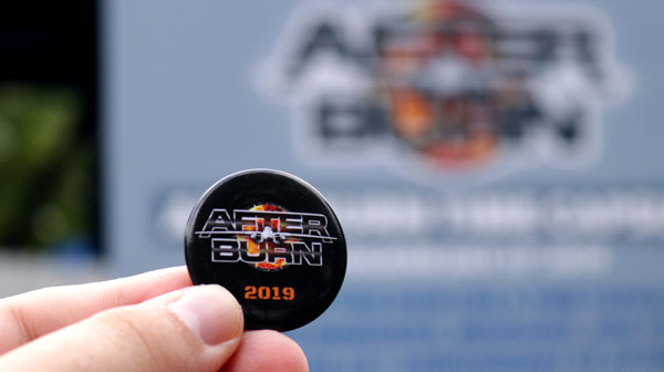 Afterburn Roller Coaster Button at Carowinds Amusement Park