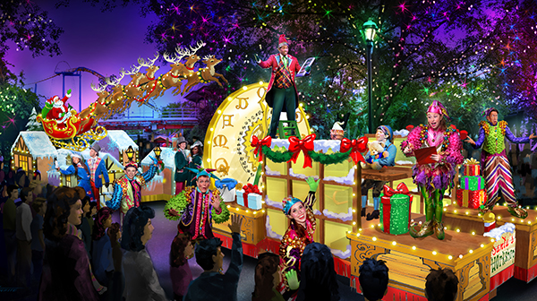 Carowinds' holiday festival featuring a brand-new parade