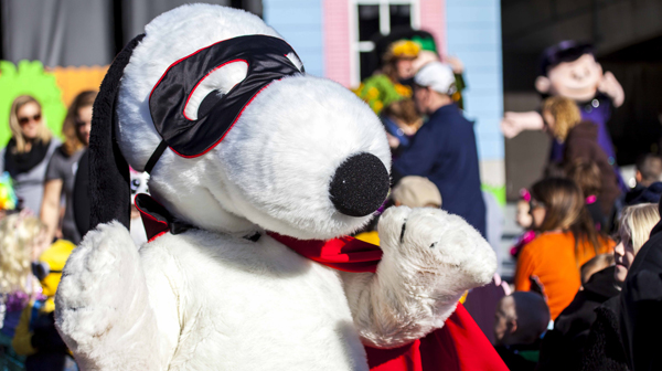 Snoopy dressed up for a costume contest at Carowinds' kids Halloween event