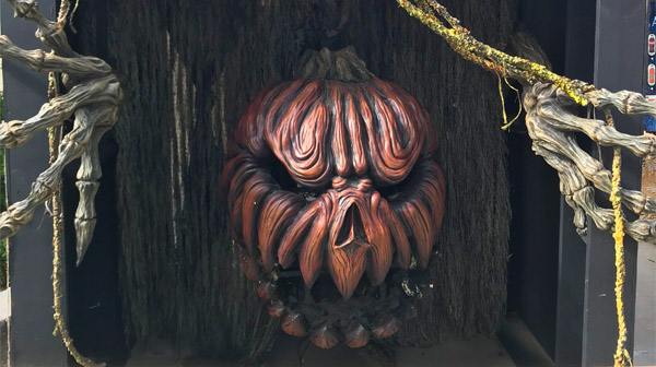A scary gourd is part of SCarowinds' Halloween events