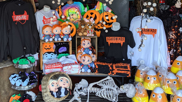 Scarowinds apparel and other halloween attractions