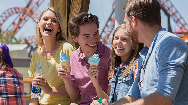 Blue ice cream available at Carowinds Amusement Park
