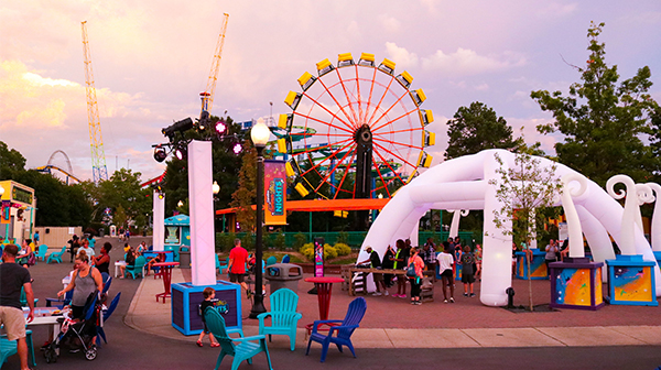 Block Party are Carowinds during Carolina Summer Nights