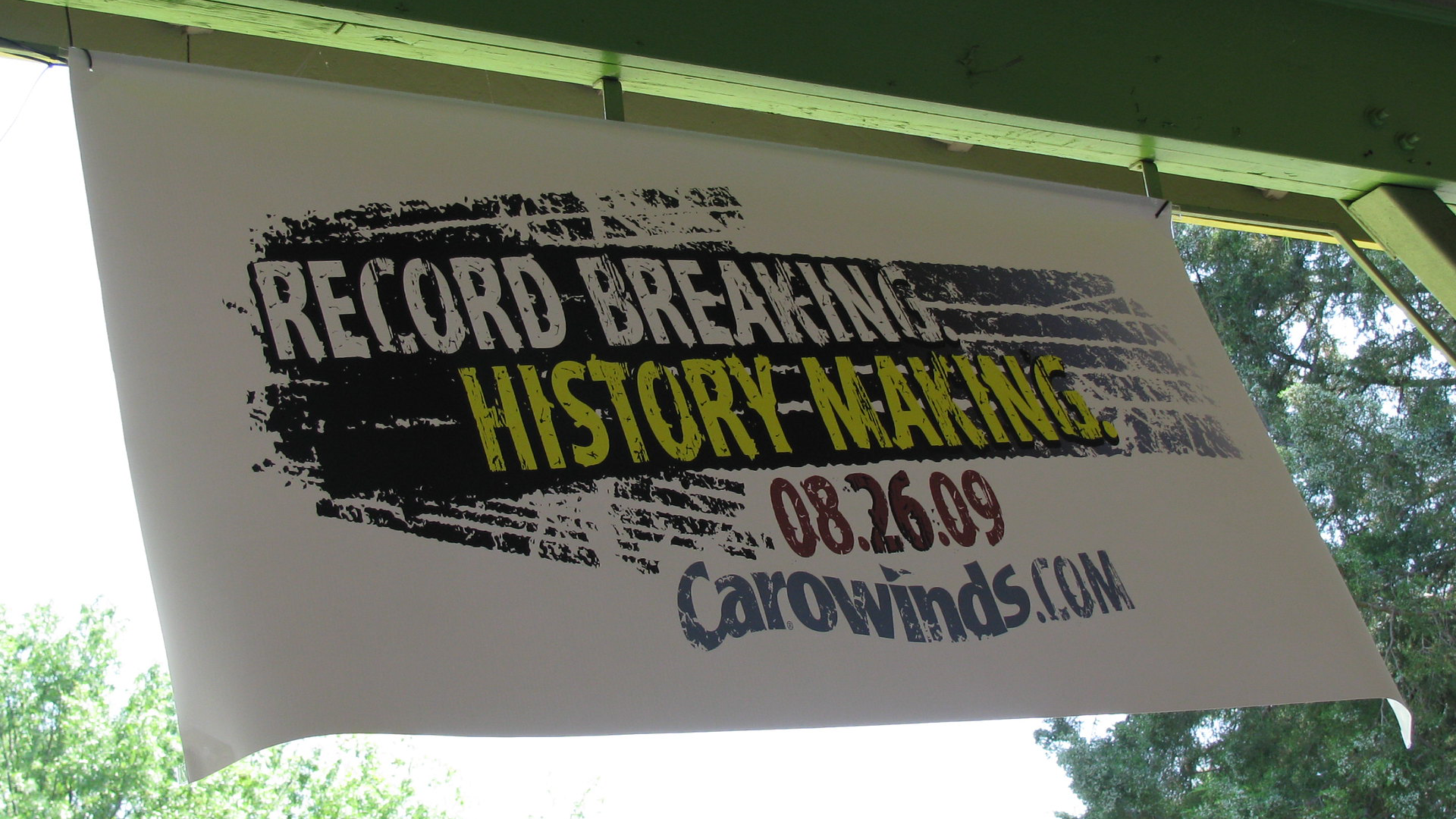 Signage for the Indimidator Roller Coaster at Carowinds