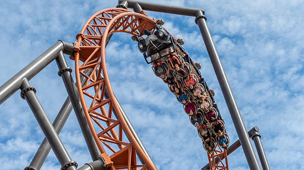 Copperhead Strike double-launch roller coaster at Carowinds