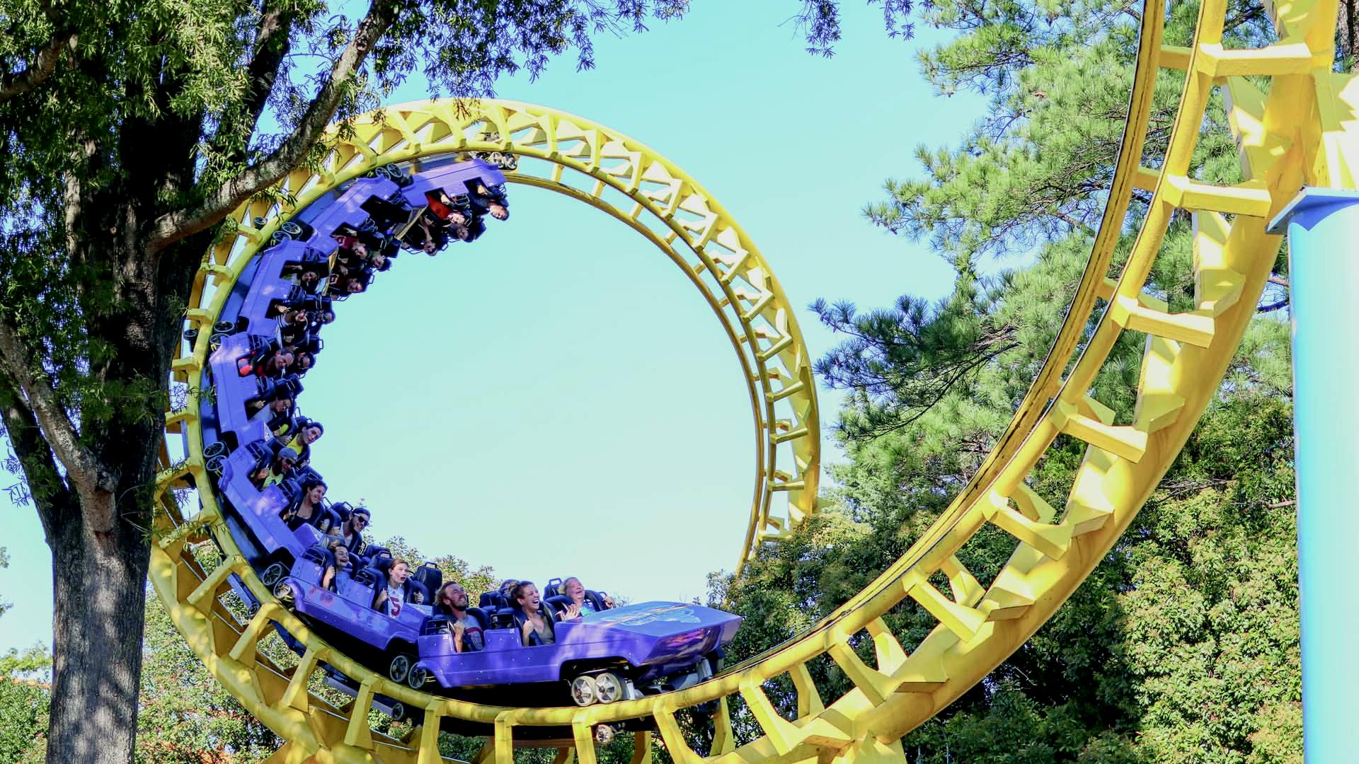Carowinds' Classic Roller Coaster Carolina Cyclone Takes Families Upside Down