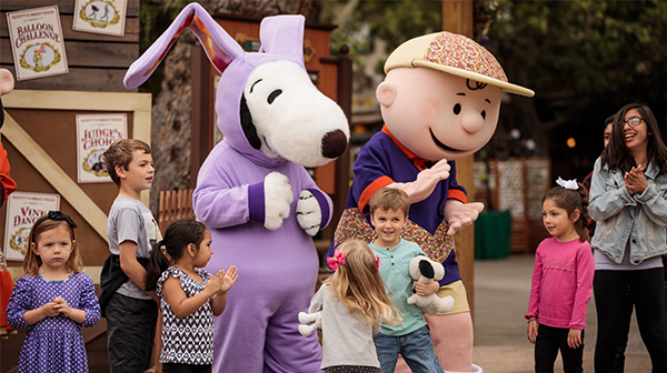Snoopy the Easter Beagle at Carowinds over Spring Break