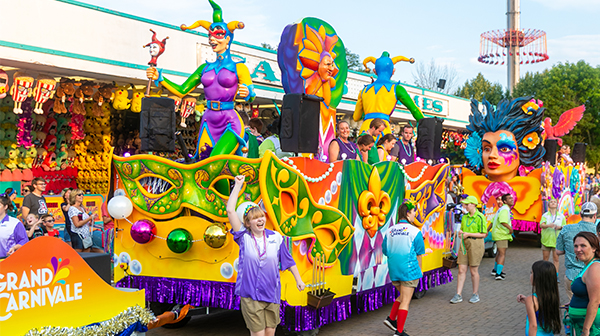 The Spectacle of Color Parade during Carowinds' Grand Carnivale
