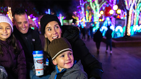 Family enjoying a New Year's Eve Event at Carowinds