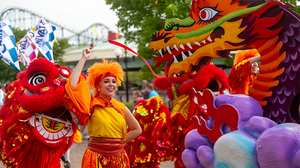 Parade during Carowinds' Cultural Celebration, Grand Carnivale