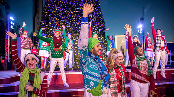 Singers and Dancers at Carowinds' New Year's Eve Event