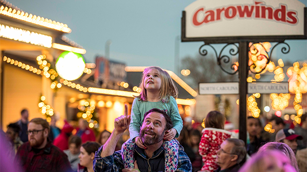 Family entertainment at Carowinds' New Year's Eve Celebration