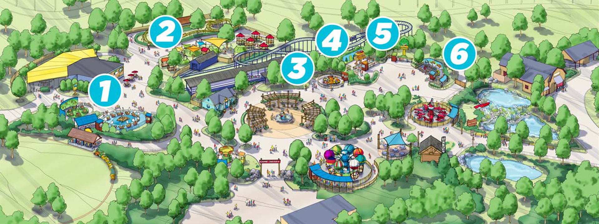 4edcc939da58f3 Camp Snoopy will introduce a total of six new Carowinds attractions  designed especially for young campers and their families.