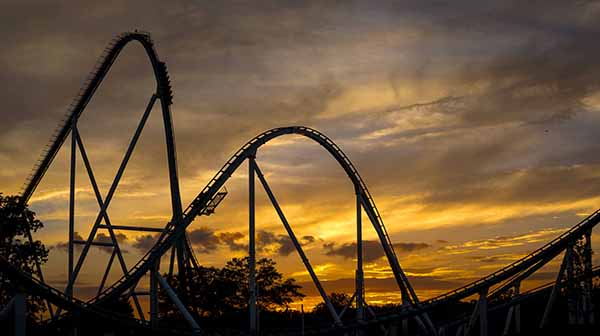 roller coaster sunsets