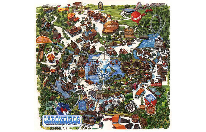 Carowinds Map