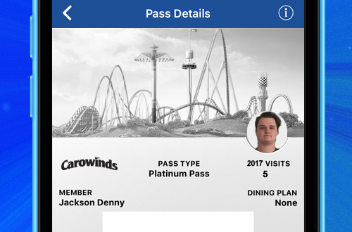 Carowinds Mobile App Digital Pass