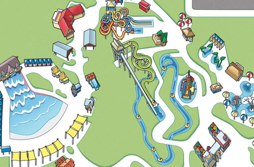 Carowinds Carolina Harbor Park Map and Directions