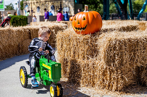 Charlie Brown's Tractor Tour at the Great Pumpkin Fest Halloween Event