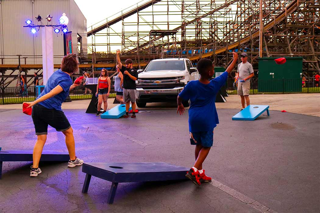 Games at Carowinds' Carolina Summer Nights
