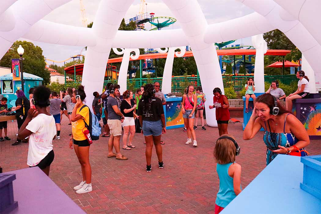 Teens Dancing at Carowinds' Carolina Summer Nights