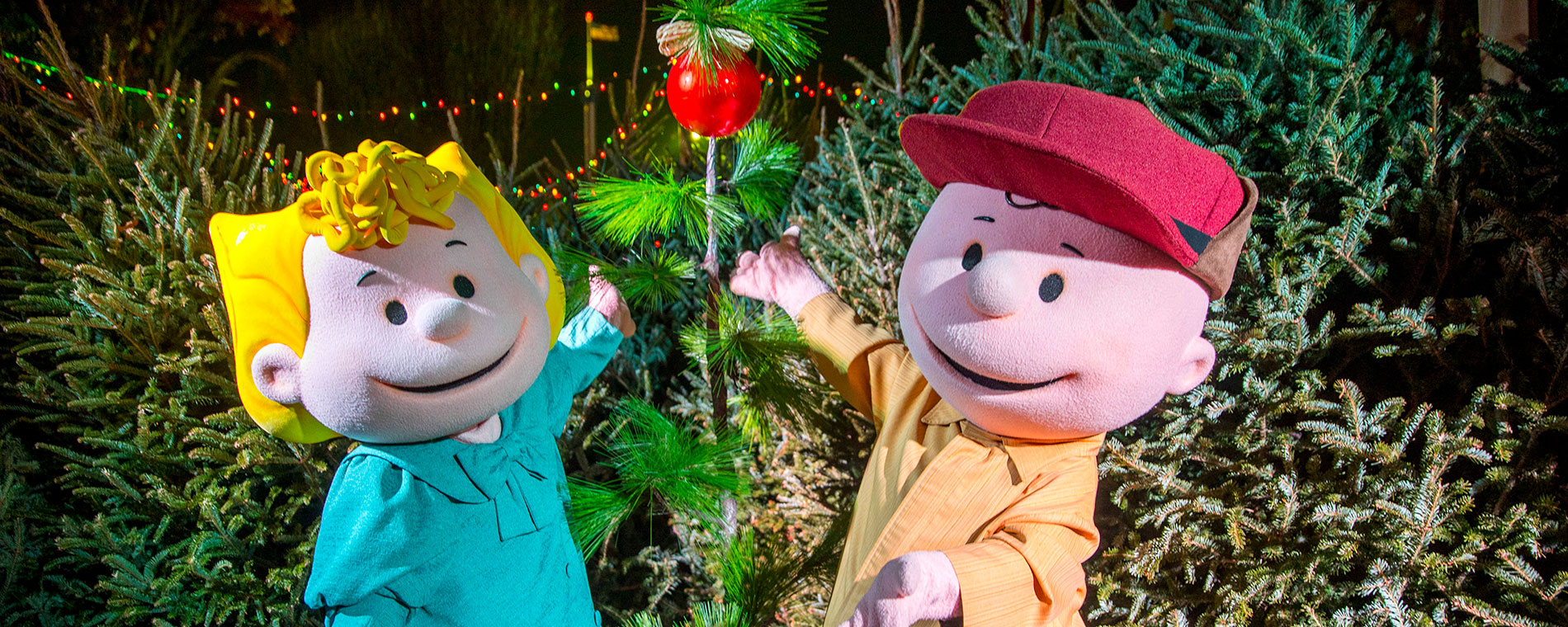 charlie browns christmas town at carowinds holiday event - Charlie Browns Christmas