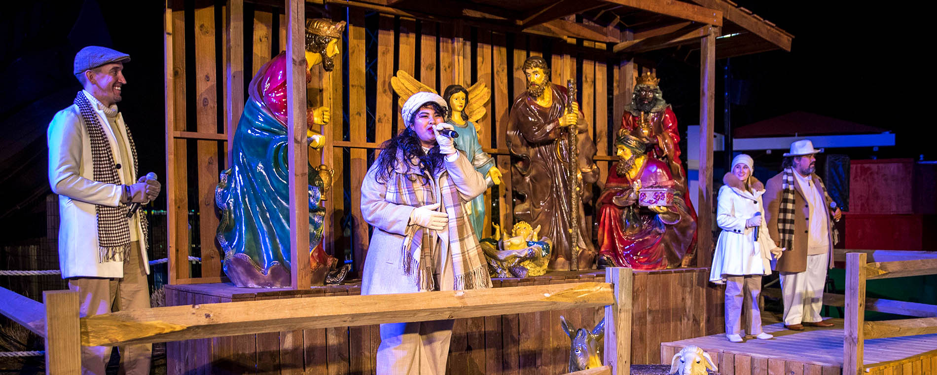 Live Nativity at Carowinds' Holiday Event