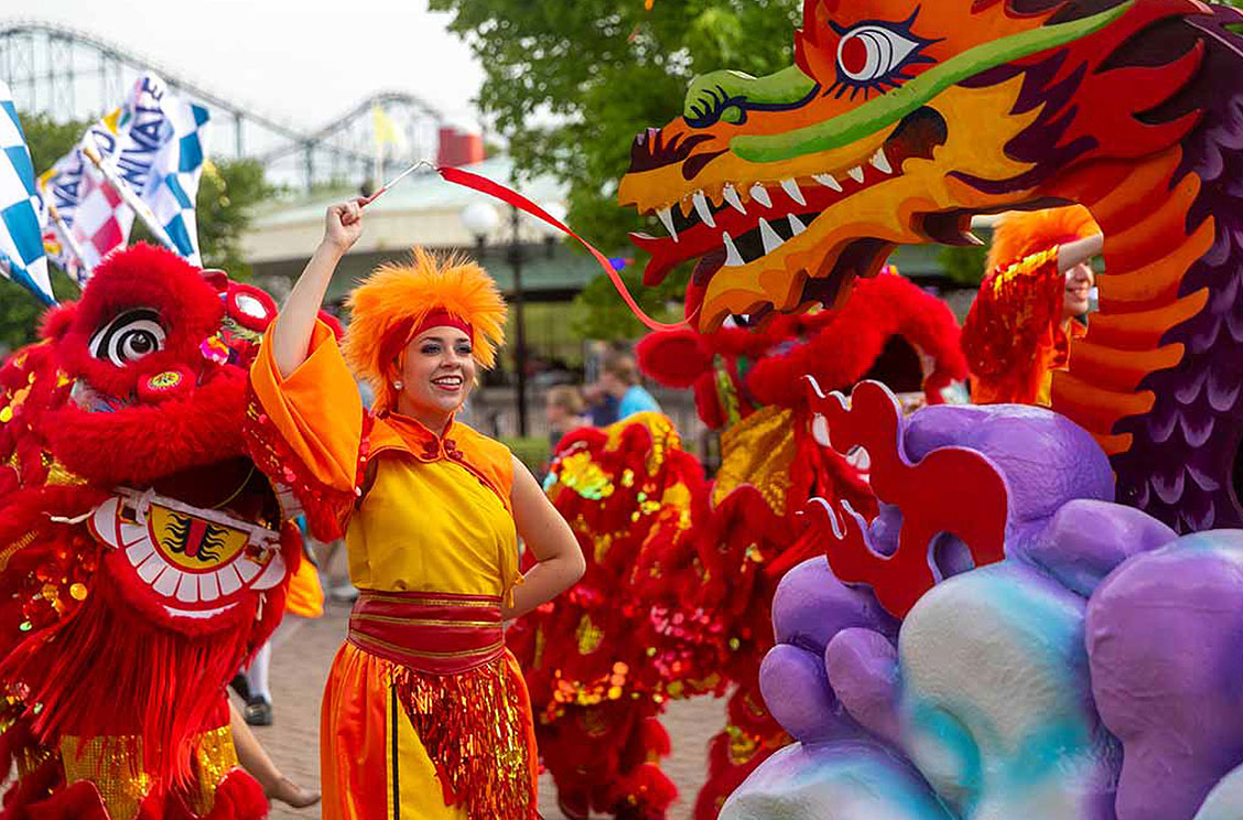 The Spectacle of Color Parade at Carowinds' Grand Carnivale
