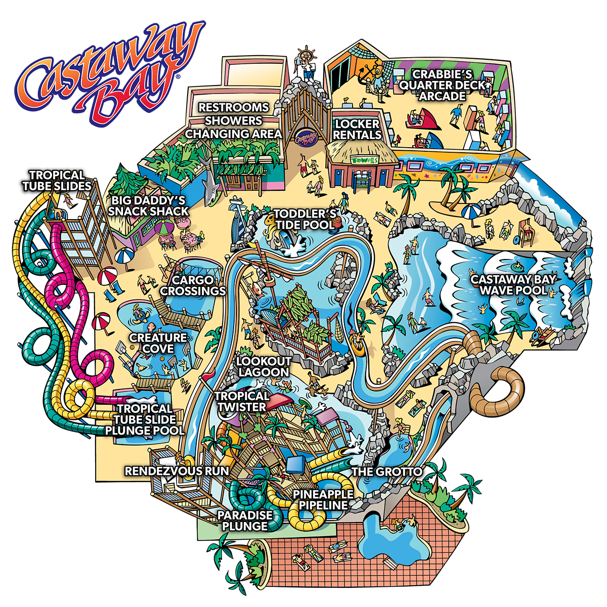 Castaway Bay Waterpark Map