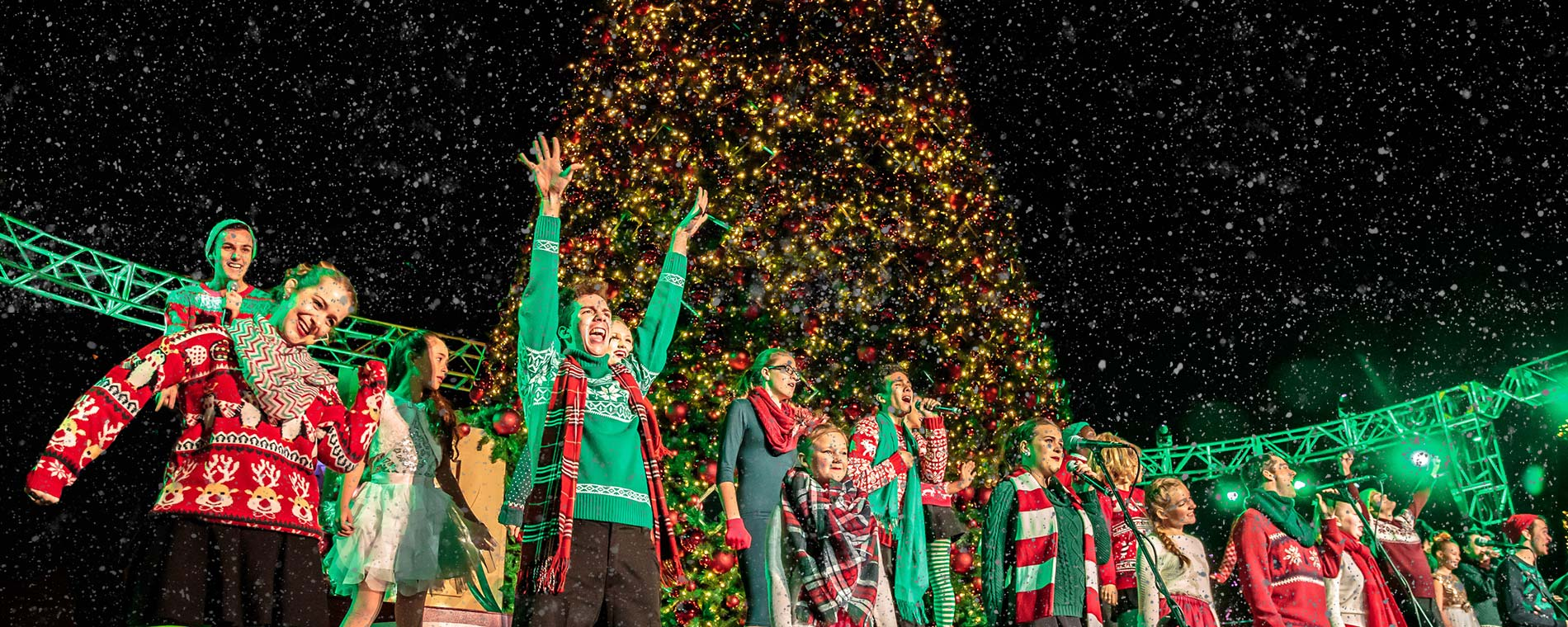 Live Performance at Worlds of Fun's WinterFest Holiday Event