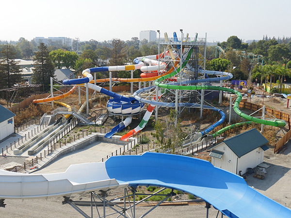 Waterpark Construction Update for South Bay Shores a California's Great America