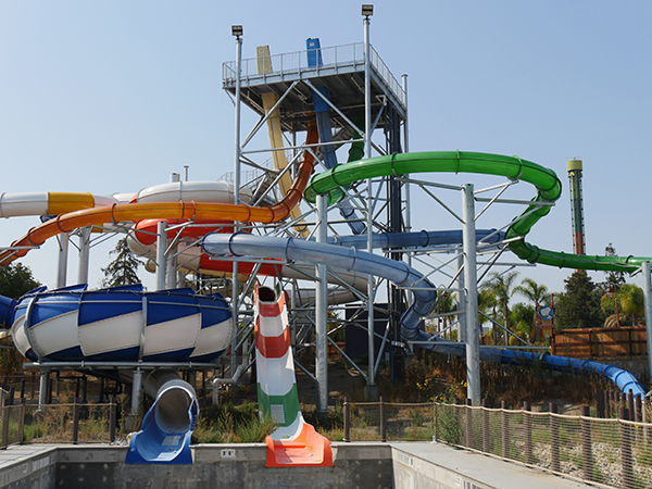 New Water Slides at California's Great America's South Bay Shores