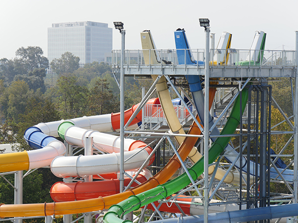 New Extreme Water Slides from South Bay Shores' Waterpark Construction Update