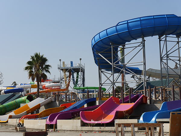 Construction Progress at California's Great America's South Bay Shores Waterpark