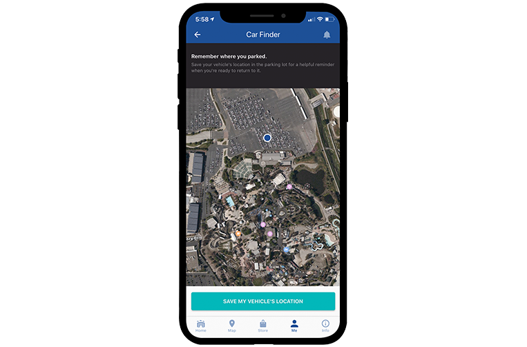 California's Great America Mobile App Car Finder
