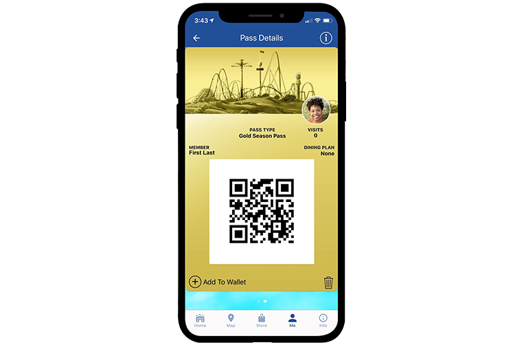 California's Great America Mobile App Digital Season Pass