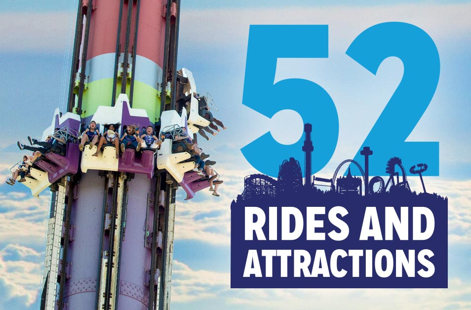 52 Rides and Attractions