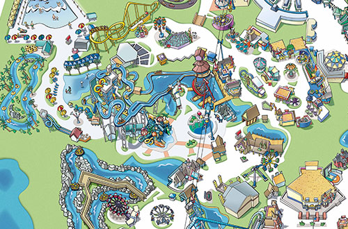 Bay Area Water Park Californias Boomerang Bay CA Great America - San jose water supply map
