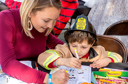 Kids Coloring at Great America's Halloween Event
