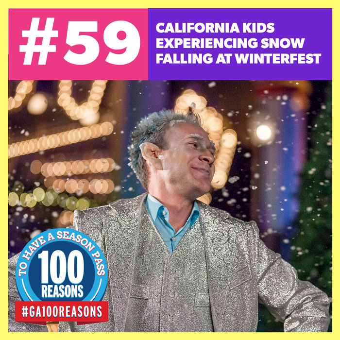 California Kids Experiencing Snow Falling at WinterFest