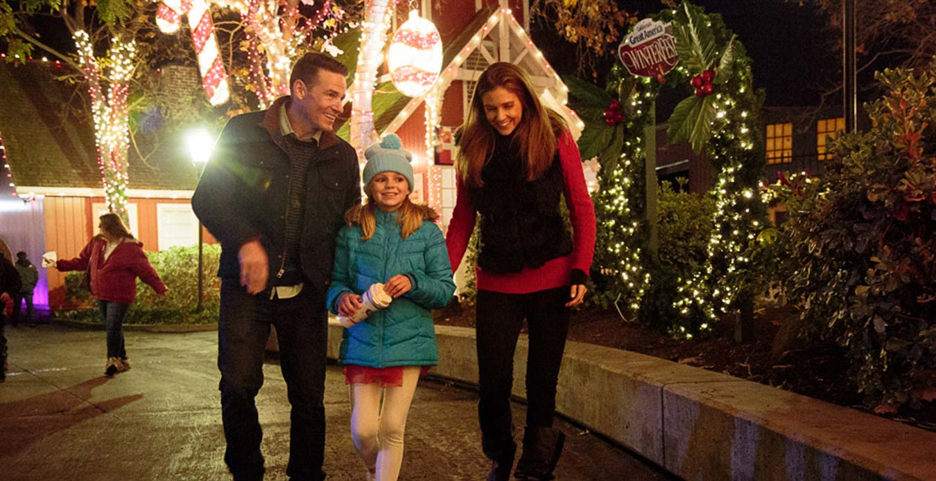 Candy Cane Lane at Great America's Holiday Event