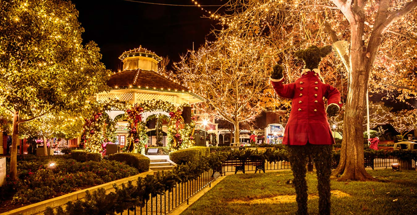 hometown square at great americas holiday event