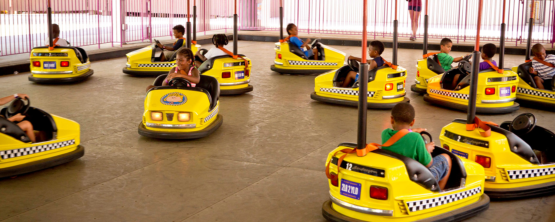 Joe Cool's Dodgem School Kids Bumper Cars Ride at California's Great America