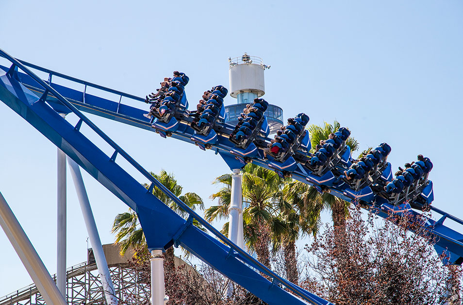Riders On Patriot Roller Coaster at California's Great America