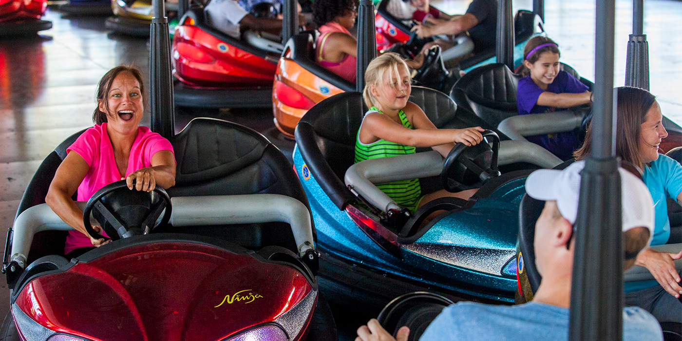 Dodgem bumper cars rides at Cedar Point