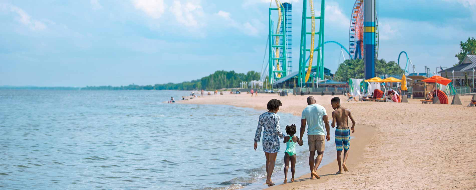 Mother & Son Enjoying Cedar Point Vacation Package