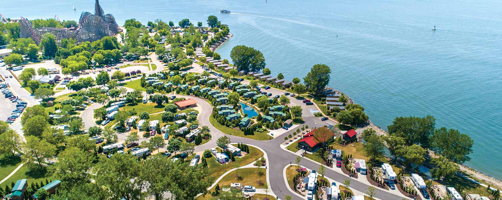 Aerial View of Luxury Camping Experience at Lighthouse Point